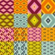 Rhomboid seamless pattern collection — Stockvektor