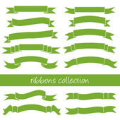Green ribbons — Stock Vector