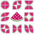 Stock Vector: Watermelons