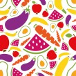 Fruits and vegetables seamless pattern — Stock Vector #39482447