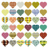 Patterned hearts — Stock Vector