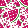 Stock Vector: Seamless watermelon pattern