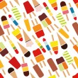 Stock Vector: Popsicle seamless pattern