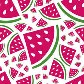 Seamless watermelon pattern — Stock Vector