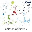 Stock Vector: Colour splashes
