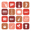 Stock Vector: Music instruments icons