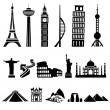 Stock Vector: World buildings