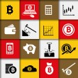 Stock Vector: Bitcoin icons