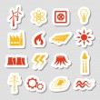 Stock Vector: Energy stickers