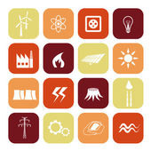 Energy icons — Stok Vektör