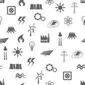 Energy seamless pattern — Stock Vector