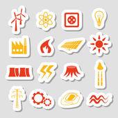 Energy stickers — Stock Vector