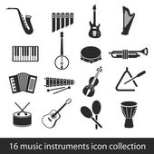Music instruments icons — Stock Vector