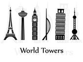 World towers — Stock Vector