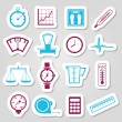 Stock Vector: Measuring stickers