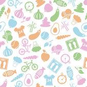 Health lifestyle seamless pattern — Stock Vector