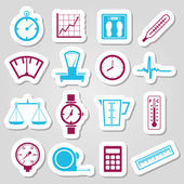 Measuring stickers — Stock Vector