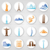 World buildings — Stockvector