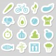 Stock Vector: Health lifestyle stickers