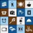 Stock Vector: Hotel and accommodation icons