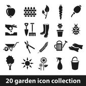 Garden icons — Stock Vector
