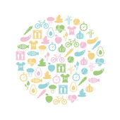 Healthy lifestyle icon in circle — Stock Vector