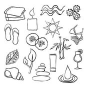 Doodle spa images — Stock Vector