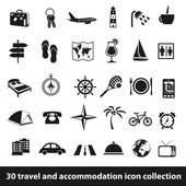 Travel and accommodation icons — Stock Vector