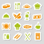 Restaurant stickers — Stock Vector #42744057
