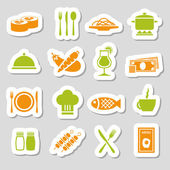 Restaurant stickers — Stock Vector