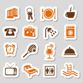 Hotel and accommodation stickers — Stock Vector