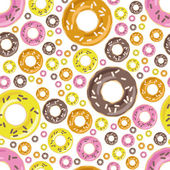Donuts seamless pattern — Stock Vector