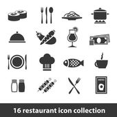 Restaurant icons — Stock Vector
