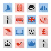 England flat icons — Stock Vector