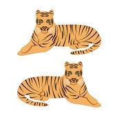 Tigers vector — Stock Vector