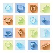 Measuring flat icons — Stock Vector