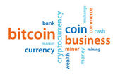 Bitcoin text — Stock Vector