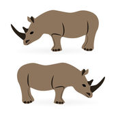 Rhinos — Stock Vector