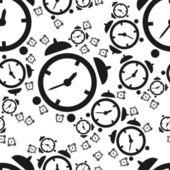 Alarm clock seamless pattern — Stock Vector