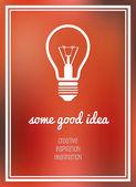 Good idea poster — Stock Vector