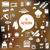 Kitchen poster — Stock Vector