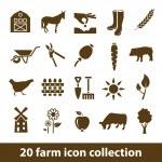 Farm icons — Stock Vector #46552449