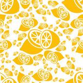 Seamless lemon pattern — Stock Vector