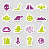 Mystic stickers — Stock Vector