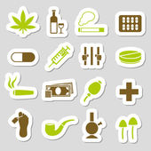 Drug stickers — Stock Vector