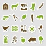 Farm stickers — Stock Vector #47843755