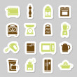Kitchen appliances and tools stickers — Stock Vector #47843783