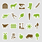 Farm stickers — Stock Vector