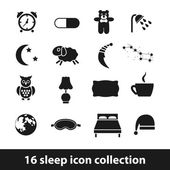 Sleep icons — Stok Vektör