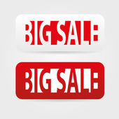 Big sale tags — Stock Vector